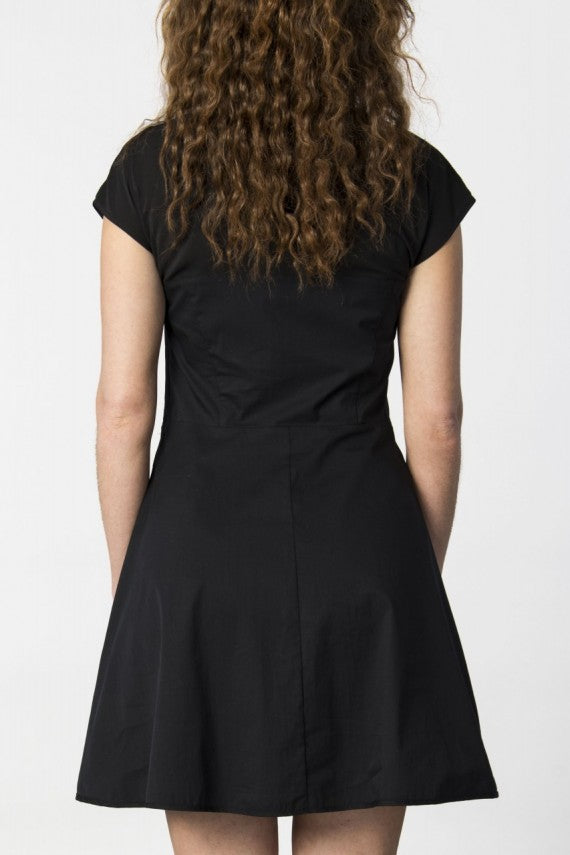 ERIETE V NECK DRESS BLACK