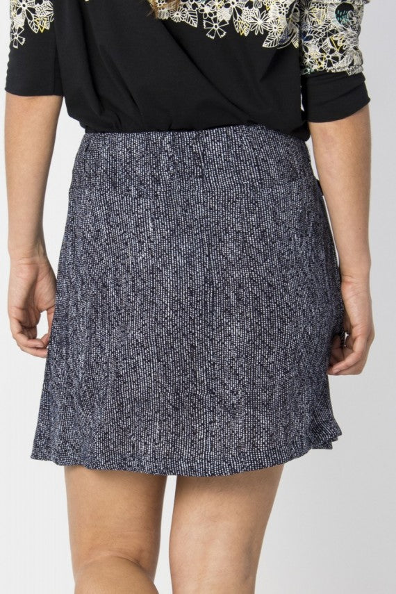 EULTZA OVERLAP SKIRT DARK NAVY