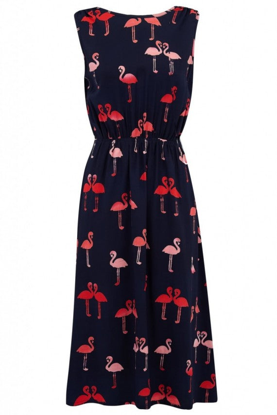 Gloria Island Flamingo Batik Dress