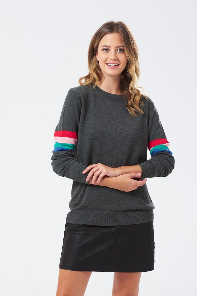 Rita Rainbow Stripe Band Sweater
