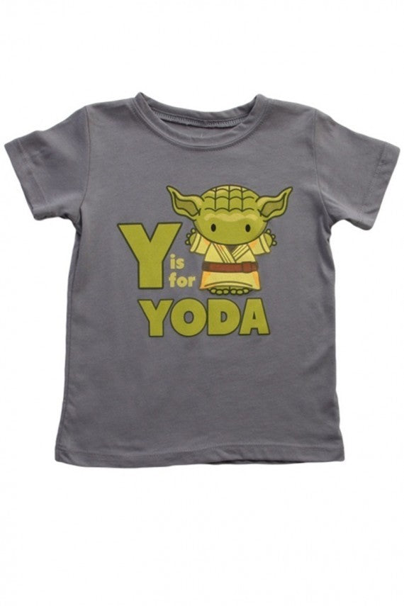 KIDS Y IS FOR YODA STEEL GREY