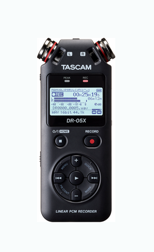 Tascam handheld digital recorder and USB Audio Interface DR-05X