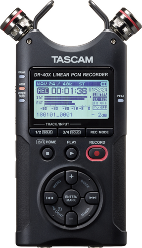 Tascam DR-40X Four Track Digital Recorder.