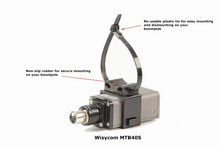 Load image into Gallery viewer, Boompole Microphone transmitter holder. Wisycon, Sony, Lectrosonics & Sennheiser
