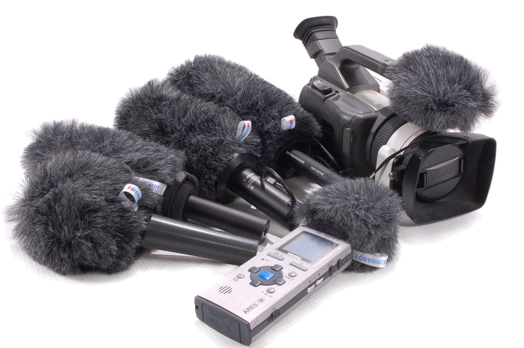 Faux fur microphone covers By Reinhardt of Denmark