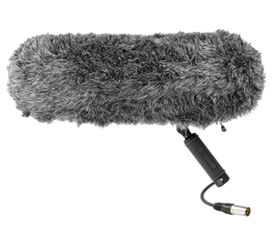 Film Sound recording equipment. The zeppelin with fur.