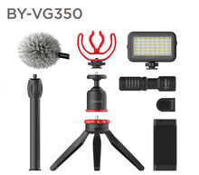Load image into Gallery viewer, Boya BY-VG350 Ultimate smartphone video kit overview