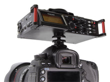 Load image into Gallery viewer, TASCAM digital recorder DR-70D on camera rear