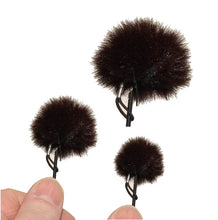 Load image into Gallery viewer, Lavelier microphone fur covers. Protect your microphone against wind noise.