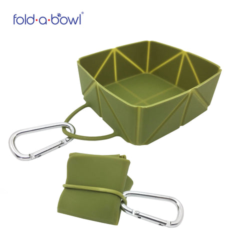 EasyPets FoldaBowl. The Single Foldable Dog Travel Bowl With Caribena Clip. Perfect for Dog Walks!