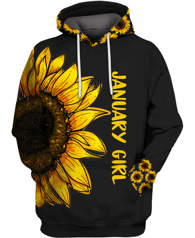 Be A Sunflower - January Hippie Girl Hoodie Collection