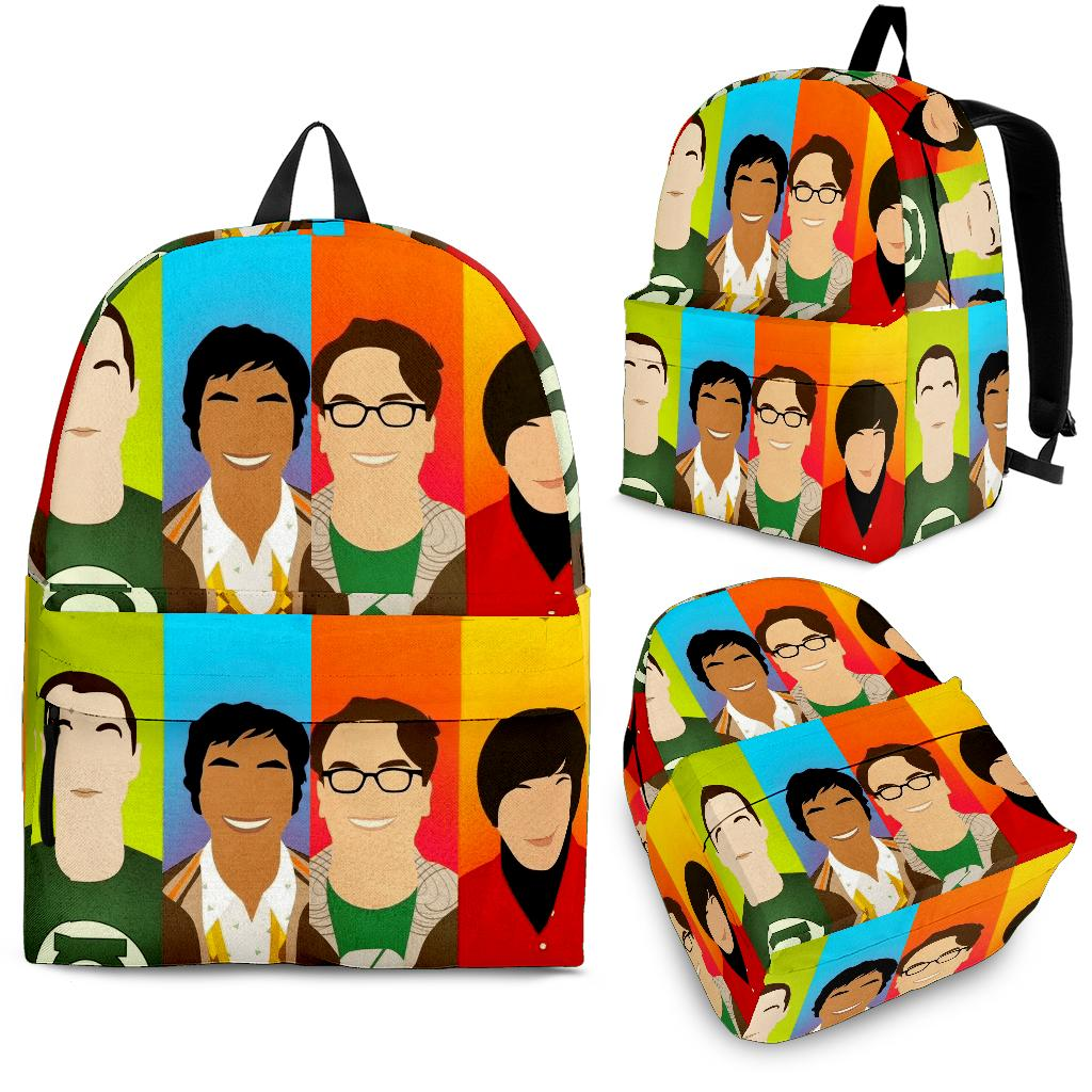 The Big Bang Theory Characters Art Backpack