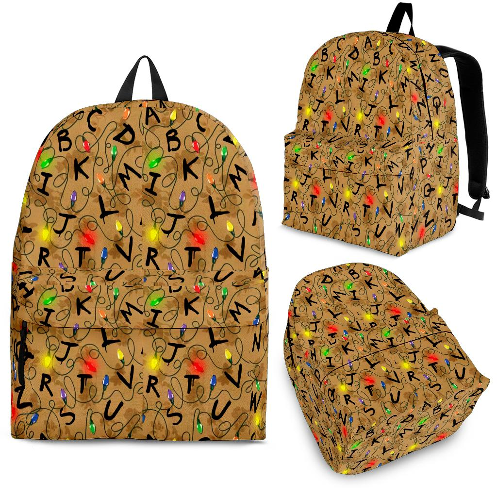 Stranger Things Colorful Lights Pattern Backpack