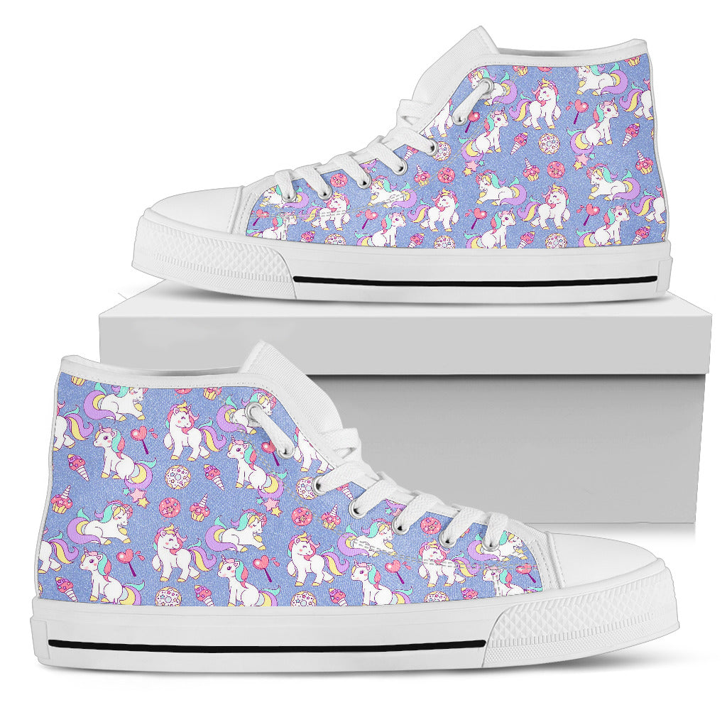 Sweet Unicorn High Top Shoes