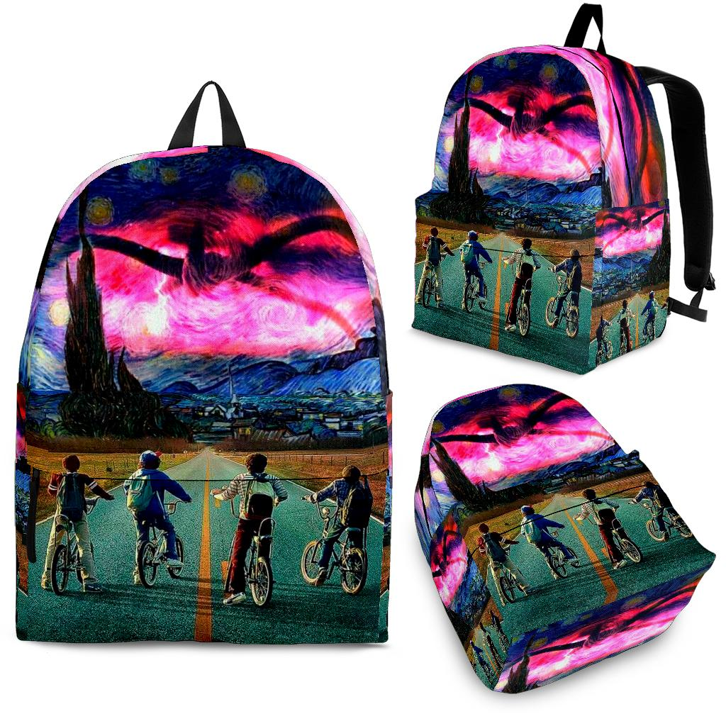 Stranger Things Van Gogh Style Art Backpack