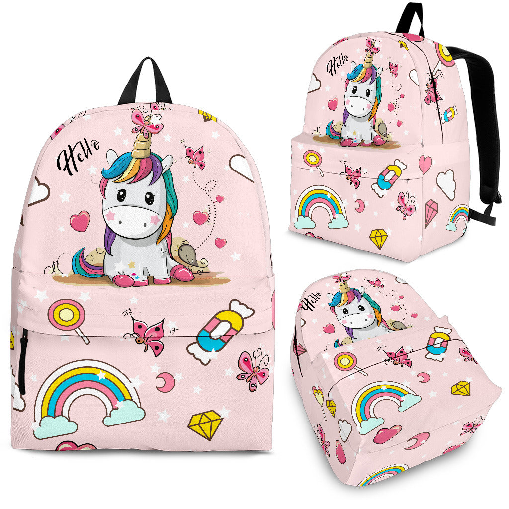 Pinky Unicorn Backpack