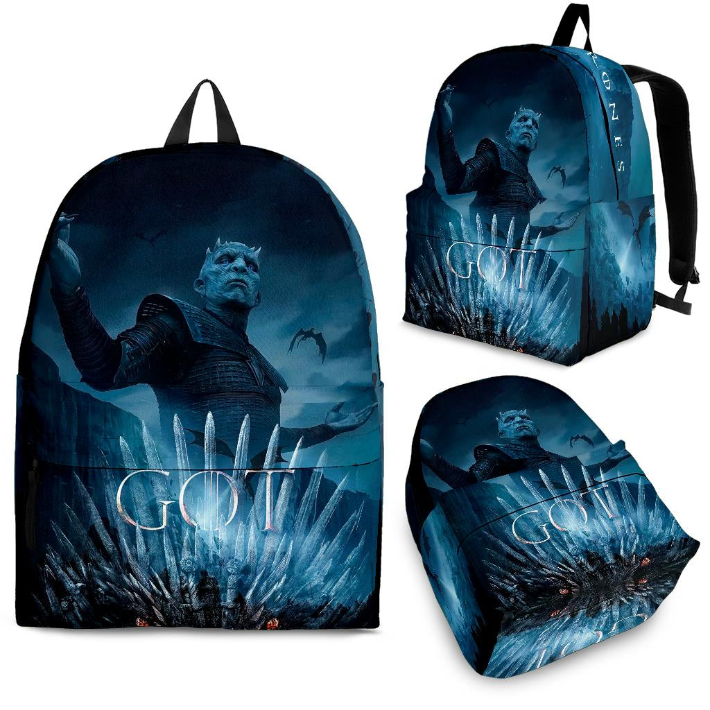 GOT Game Of Thrones Night King Art Backpack - Back To School
