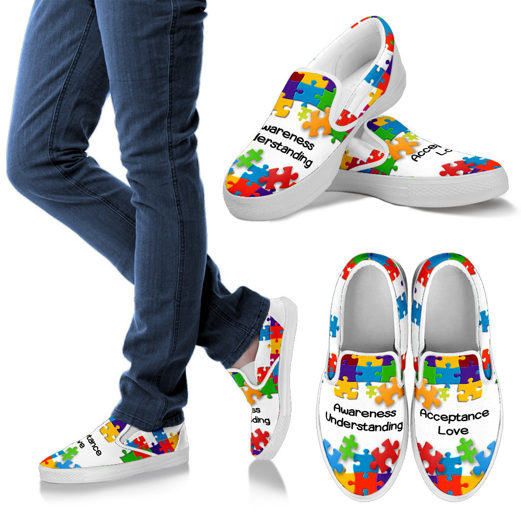 Family Autism Awareness Slip Ons