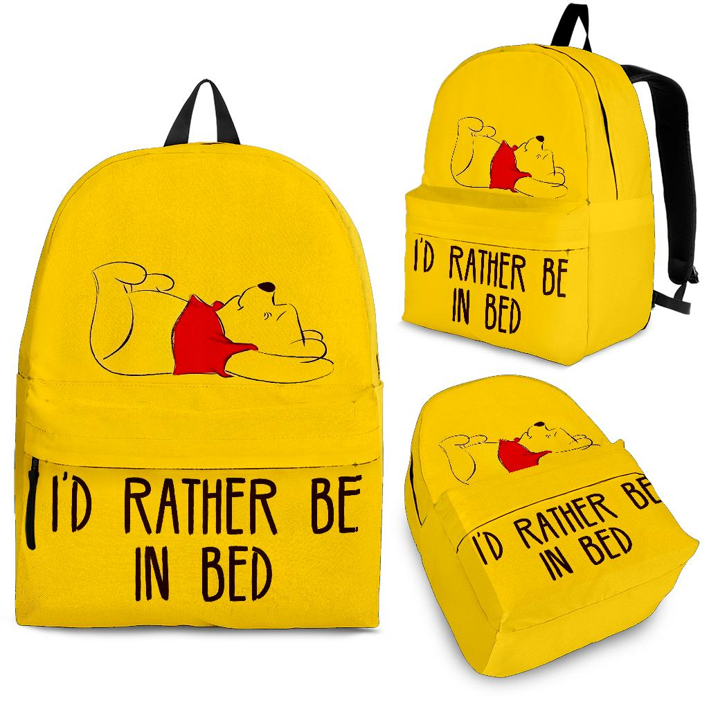 Pooh'd Rather Be In Bed Cute Backpack