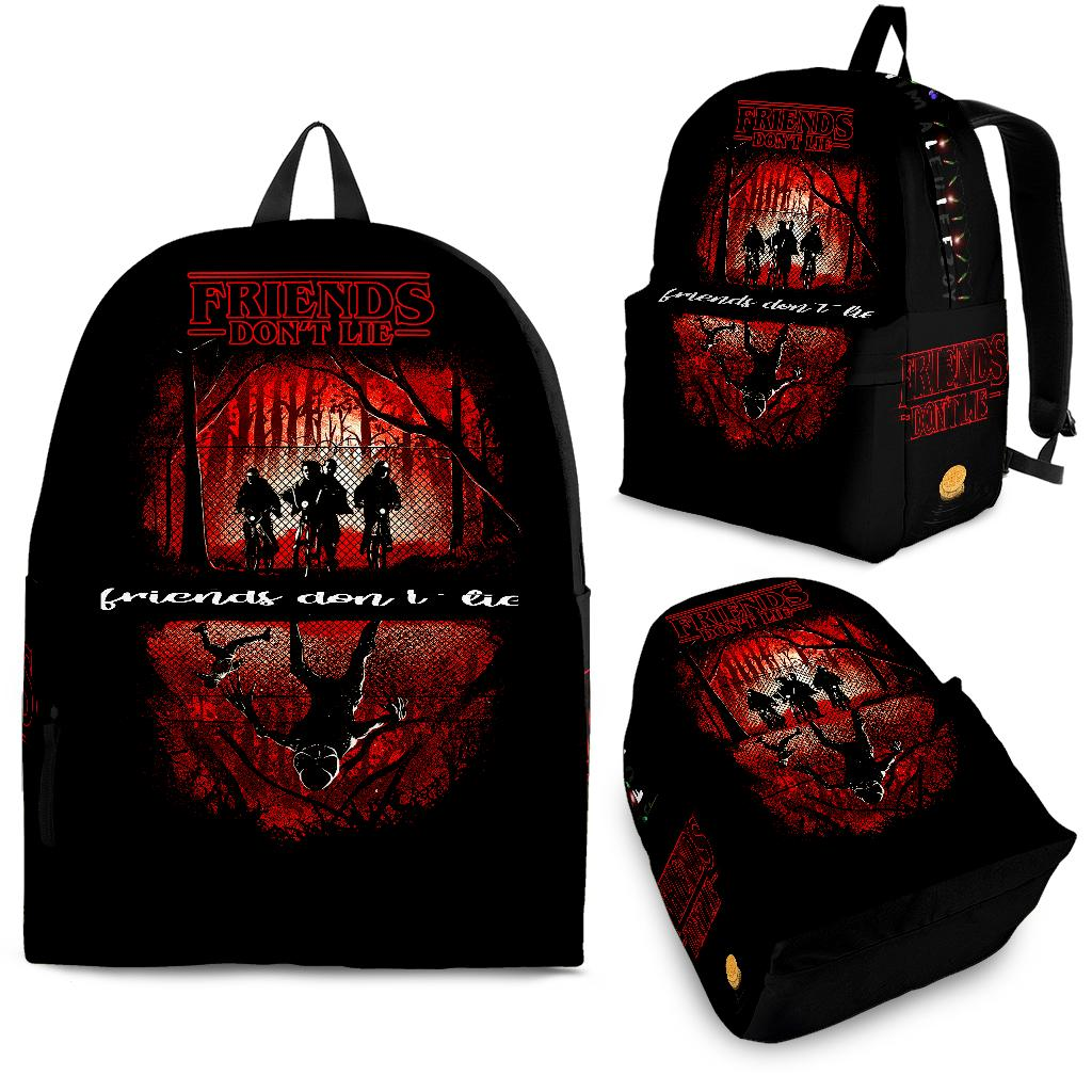 Friends Don't Lie Stranger Things Backpack
