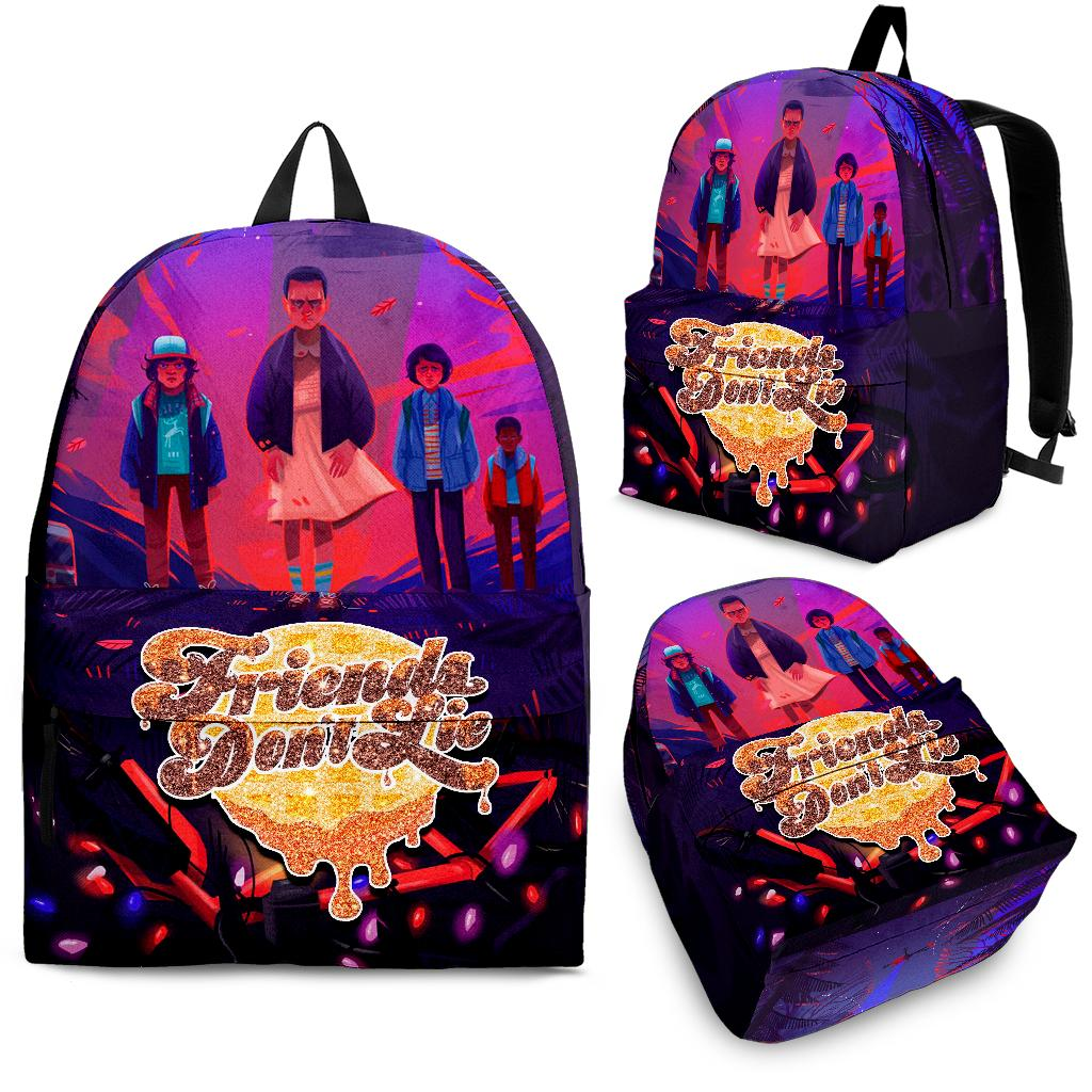 Friends Don't Lie Stranger Things Art Backpack