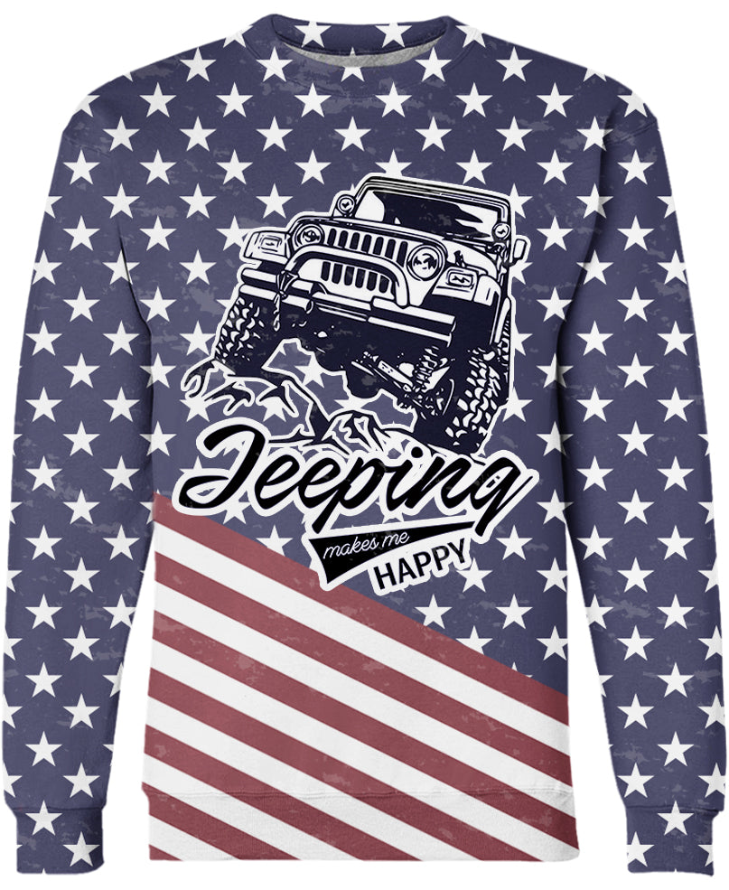 Jeep Makes Me Happy All Over Printed US