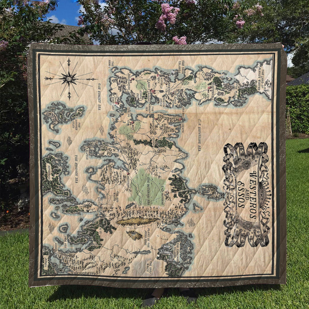 Seven Kingdoms Map Quilt Blanket