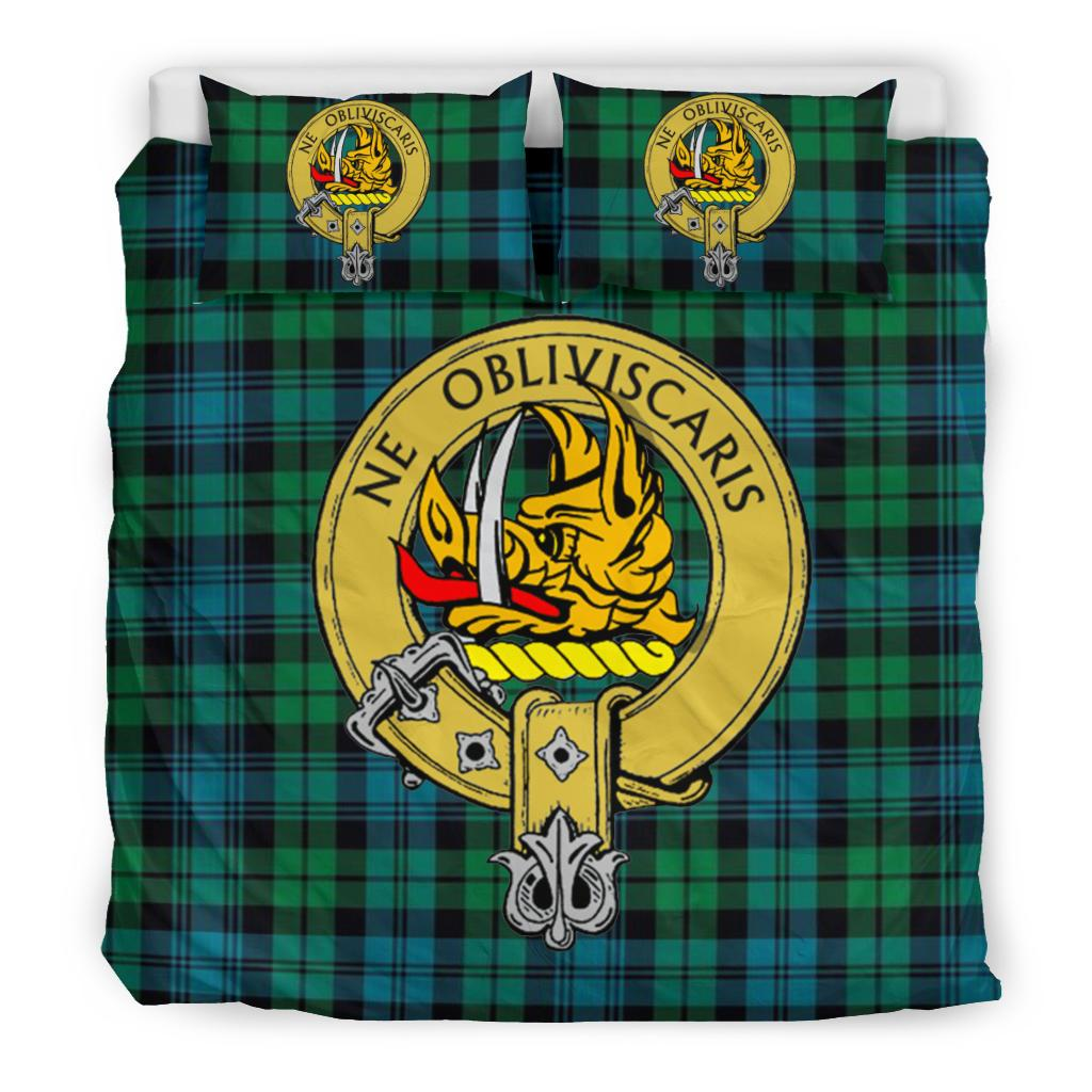 Campbell Ancient Clan Badge Tartan Bedding Set