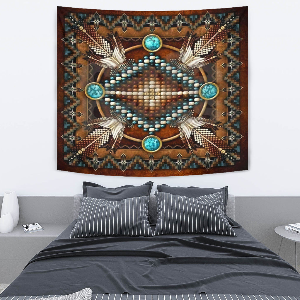 Brown Native Pattern Premium Tapestry