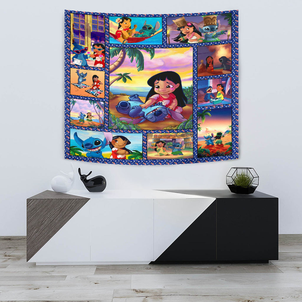 Stitch and Lilo Tapestry