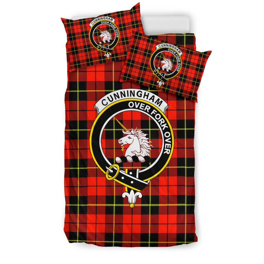 Cunningham Modern Clan Badge Tartan Bedding Set