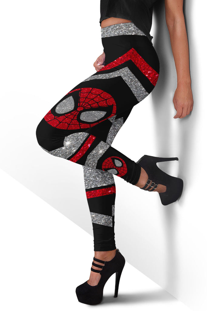 Glitter Spider-man Premium Leggings