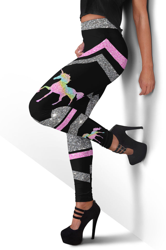 Glitter Unicorn Premium Leggings