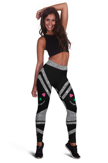 Glitter Sparkling Cheshire Cat Premium Leggings
