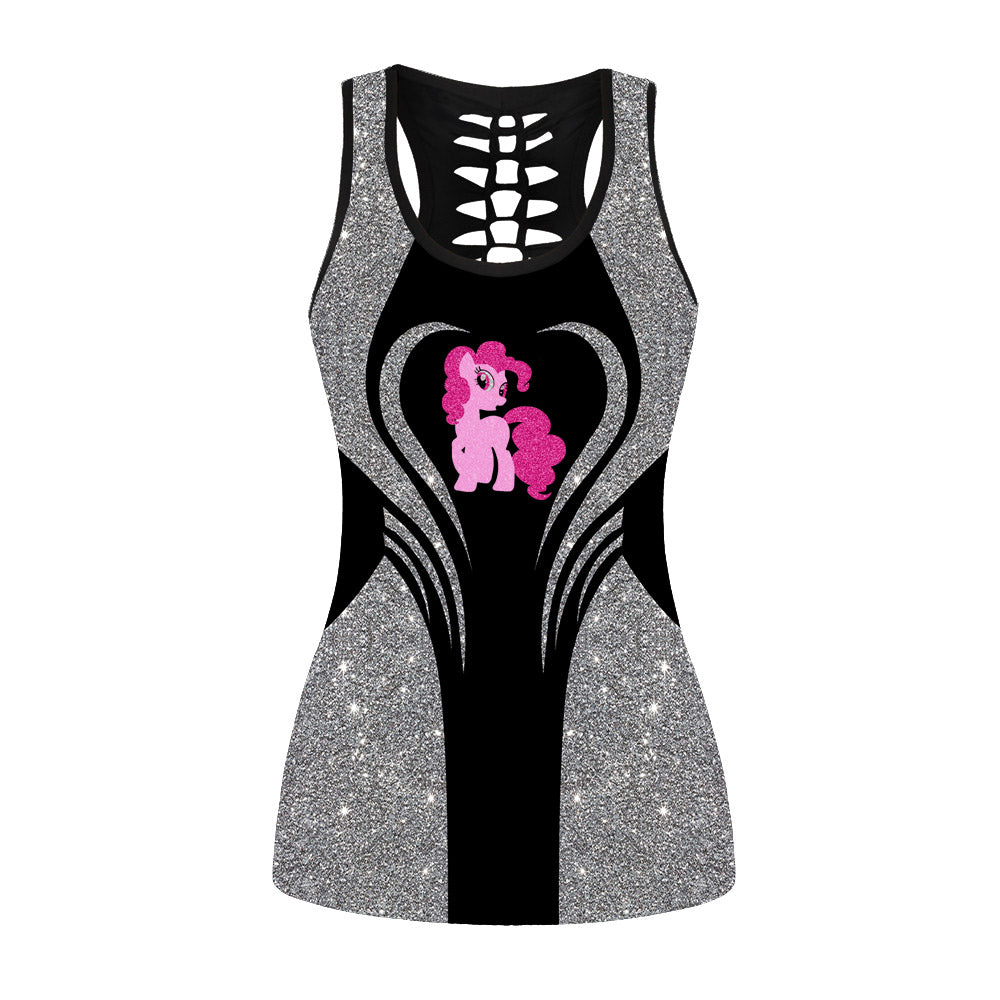Glitter Sparkling My Little Pony Hollow Out Tanktop