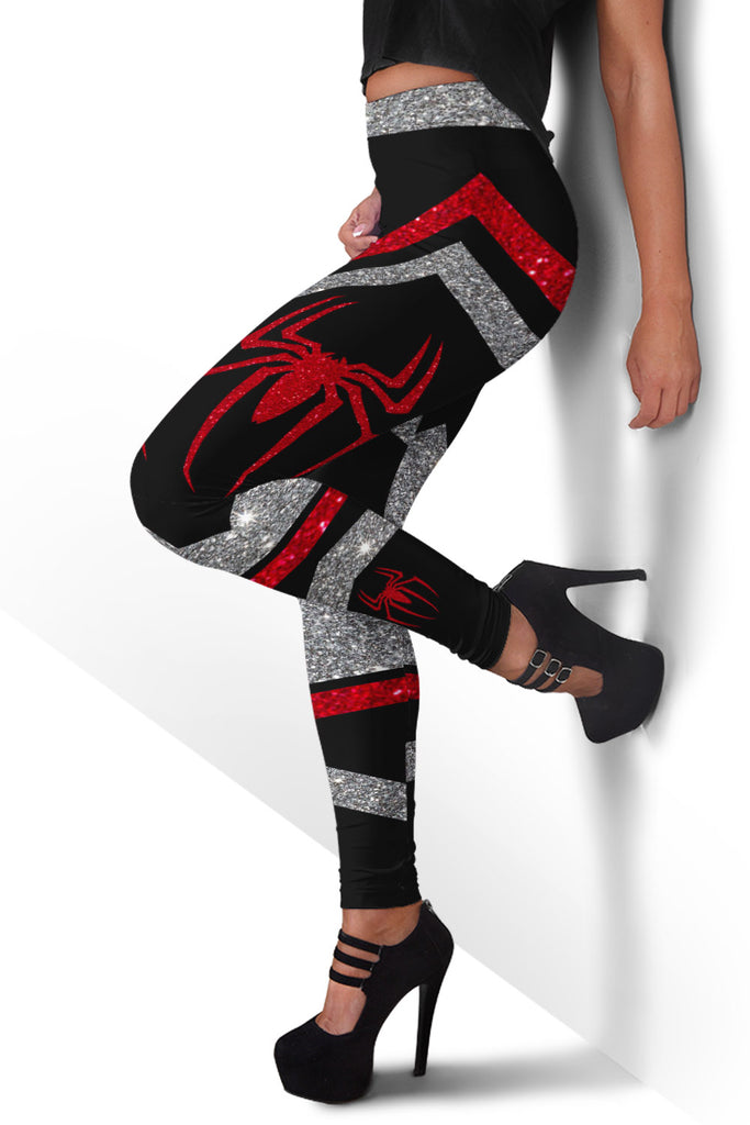 Glitter Red Spider Woman Premium Leggings