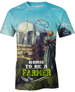 Born To Be A Farmer All Over Printed T-Shirt
