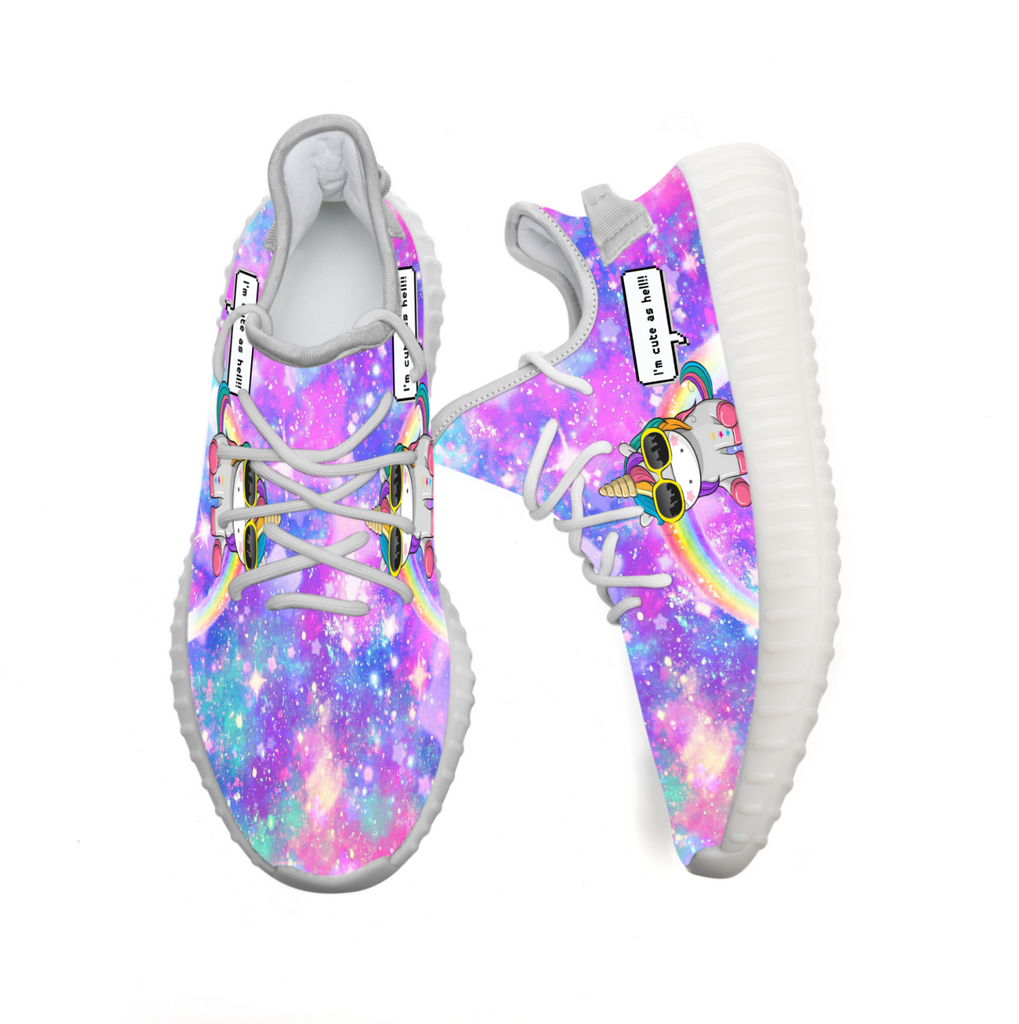 Unicorn - I'm Cute As Hell - Limited Edition Yeezy Shoes