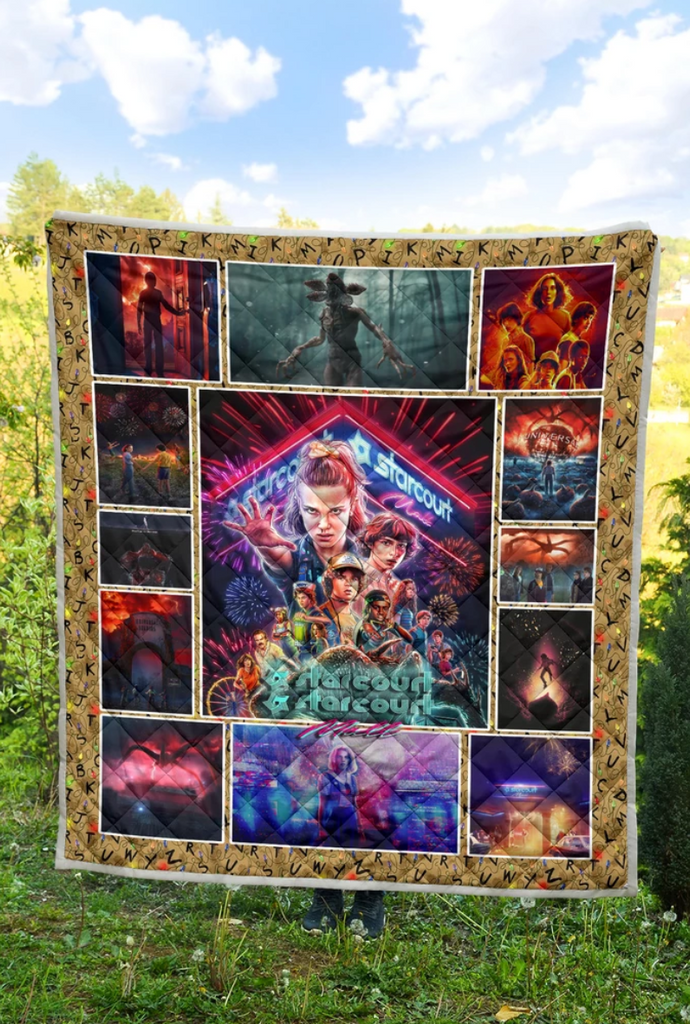Stranger Things Starcourt Mall Art Premium Quilt Blanket