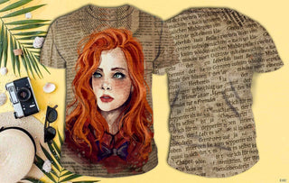 Lovely Redhead Full Print T-shirt