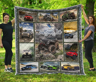Jeep Addict Premium Quilt Blanket