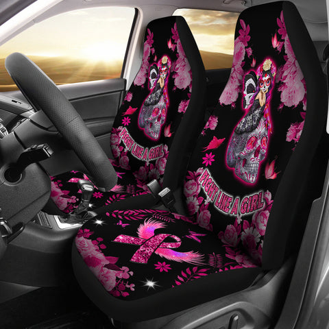 Fight Like A Girl - Breast Cancer Awareness Car Seat Covers
