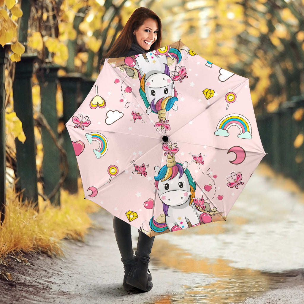 Pinky Unicorn All Over Print Umbrella