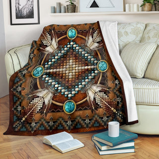Brown Native Pattern Premium Blanket