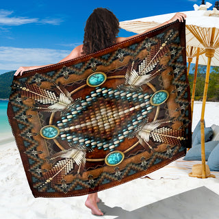 Brown Native Pattern Sarong