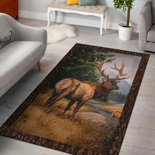 Deer Hunting Premium Area Rug