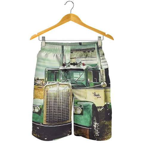 Green Truck All Over Printed Men's Short