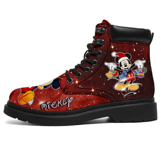 Mickey Patterns All Season Boots - Festive Collection