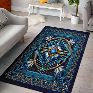 Blue Native American Area Rug
