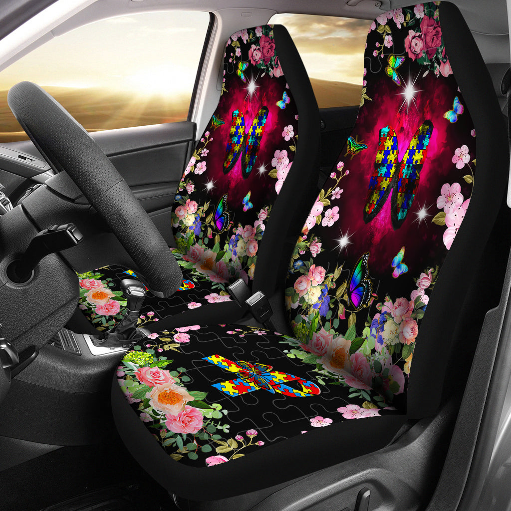 Printed Car Seat Cover for Cars (Set of 2)